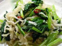 切干し大根と小松菜のハリハリ漬け風