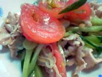 豚しゃぶの納豆サラダ