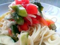 野菜の冷製パスタ