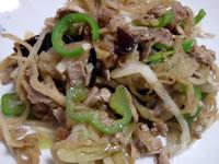 豚肉と切り干し大根の炒め物