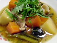 豚小間と野菜のわさび煮