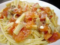 エリンギとイタリアン・トマトのスパゲティーニ