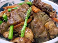 鶏とコンニャクのピリ辛炒め
