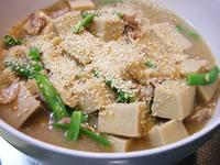 高野豆腐のゴマあん
