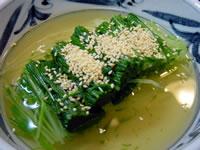水菜の冷やしごま汁