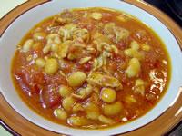 大豆と豚肉のトマト煮