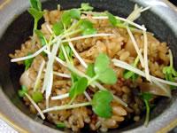 貝柱と塩吹昆布の炊き込みご飯