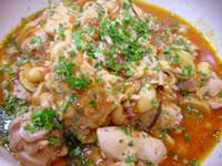 大豆と鶏肉の煮込み